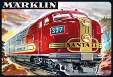 Tin Sign: Marklin Santa Fe 337