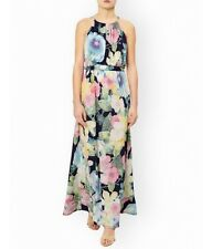 BNWT Monsoon CAMILLA PRINT JERSEY MAXI Dress Size:14 Navy/Multi