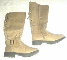 CARRINI  WOMEN'S BOOTS olive SIZE 7