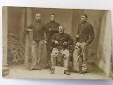 Antique Military Picture foto Postcard stamped & dated Arlon 2 dece 1906 Belgium