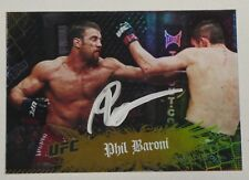 Phil Baroni Signed UFC 2010 Topps Main Event Gold Card #32 Autograph Pride FC 30