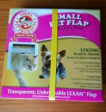 "Ideal Pet Products 4 Way Locking Pet Flap 6-1/4"" X 6 -1/4"" Pets Up to 12 lbs Wht"