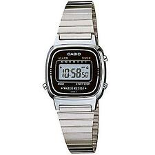 Casio Ladies Vintage Digital Watch La670 Black