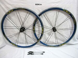 Rolf Vector Comp anodized BLUE 700C, clincher wheelset 130mm hub Shimano compat
