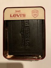 Levis Wallet Men Black New With Box Free Shipping