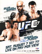 ANDERSON SILVA SIGNED AUTO'D MINI POSTER PSA/DNA COA UFC 117 RICARDO ALMEIDA