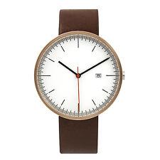 BIJOUONE Rose Gold Brown Leather Strap Casual Classic Quartz  luxury wrist watch