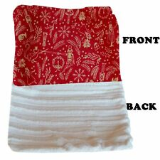 Mirage Pet Products Luxurious Plush Carrier Blanket Red Holiday Whimsy