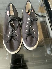 MENS SIZE 10-BLACK-ORIG CANVAS SHOES-LEE COOPER-NEW /& BOX-CLOSING SALE-LAST DAY