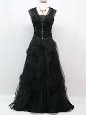 Cherlone Schwarz Hochzeit Ballkleid Brautkleid Abendkleid Brautjungfer Kleid 42