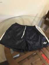 Vintage Adidas Trefoil Nylon Blue Sprinter Running Soccer Shorts XL Excellent Co