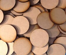 10x 40mm Round MDF Wood Bases Laser Cut Crafts Wargames Miniatures FAST SHIPPING