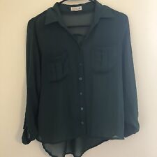 Mine Olive Green Color 3/4 Sleeve open Top Women's top size S