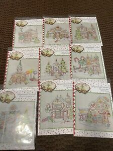 """CRAB-APPLE HILL """"GINGERBREAD SQUARE""""  9 PATTERNS  ONLY  BRAND NEW"""