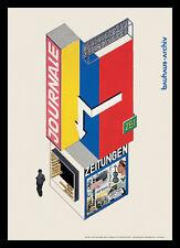 Herbert Bayer Entwurf eines Zeitungskiosk Poster Kunstdruck und Rahmen 59x84cm