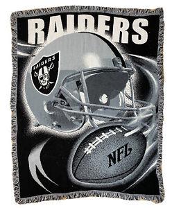 VTG The Northwest Company NFL Oakland Raiders 55x45 Tapestry Throw Blanket