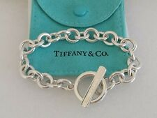 "Tiffany & Co. 1837 Toggle Bracelet 925 Sterling Silver 7.5"" w Pouch"