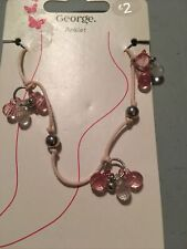 New (19). George Pale Pink Cord/bead Anklet.