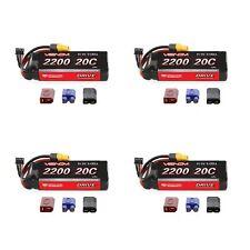 Venom 20C 3S 2200mAh 11.1V LiPo Battery with Universal Plug System x4 Packs