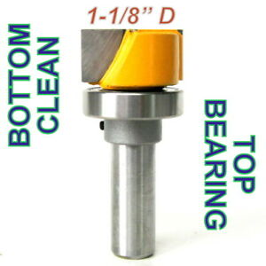 "1 pc 1/2"" SH 1-1 /8"" Diameter Bottom Cleaning w/ Top Bearing Router Bit  S"