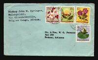 Belgian Congo 1950s Cover to USA / 5F Total - Z18230