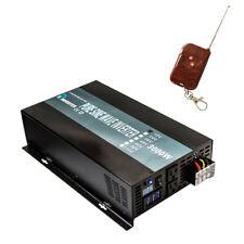 Pure Sine Wave Inverter Power 3000W 12V/24V to 120V/220V Remote Control Wireless