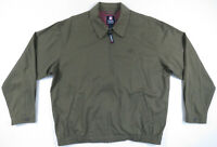 Vintage Ralph Lauren Chaps Olive Green Full Zip Harrington Bomber Mens Jacket L