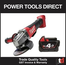 NEW MILWAUKEE M18 ANGLE GRONDER 18V FUEL M18 CAG125 XPD 125MM WITH 4AMP BATTERY
