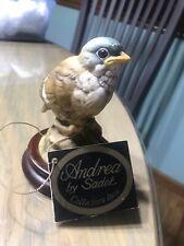 Vintage Andrea By Sadek Baby Gold Finch Porcelain Figurine