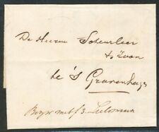 BRIEF ZUTPHEN - 'S GRAVENHAGE 1 NOV 1845,GESCHR.BEZW MET FL.3,- GELDWAARDE Zi151