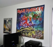 IRON MAIDEN Run to the Hills HUGE 4X4 BANNER poster tapestry album cover