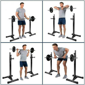 Gym Squat Rack Stands Adjustable Barbell Heavy Duty Weight Bench Support Stand
