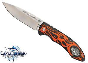 CASE CUTLERY TEC X HARLEY DAVIDSON LINERLOCK FOLDING POCKET KNIFE ORANGE CA52119