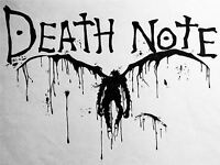 ART PRINT POSTER MANGA ANIME DEATH NOTE TEXT SCRAWL DEMON NOFL0037