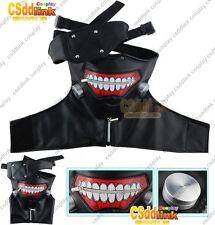 Tokyo Ghoul Ken Kaneki cosplay costume pleather mask