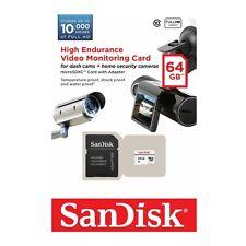 SanDisk MicroSD Card High Endurance 64GB Class10 Dash Cam Surveillance Security