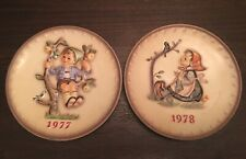 1977 & 1978 Hummel Plate Porcelain Hand Painted Decorative Plate Free Shipping