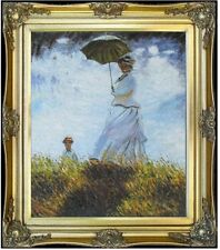 Framed Hand Painted Oil Painting Repro Claude Monet Woman with Parasol, 20x24in