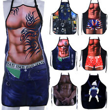 Novelty Aprons |Sexy | Funny | Kitchen Restaurant Bib Chef Cooking Apron For Men