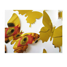 12PCS 3D Butterfly DIY Art Mirror Wall Stickers Home Decal Room Mural Xmas Decor