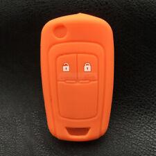 Fit Chevrolet Buick Orange Flip Remote Key Fob Silicone Skin Case Cover