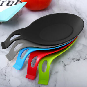 Spoon Rest Silicone Teabag Tidy Holder Heat Resistant Cooking Utensil Dish