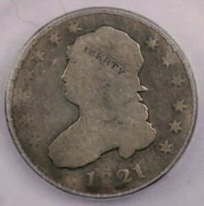 1821-P 1821 Capped Bust Quarter ICG AG03 Details