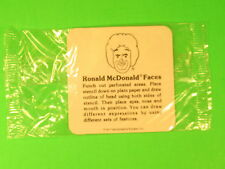 1977 McDonalds - Fun-To-Go *Test* - Stencil-A-Face Ronald *MIP*