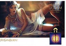 PUBLICITE ADVERTISING  2013 YVES SAINT LAURENT  parfum BELLE D'OPIUM  ( 2 pages)