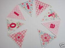 Personnalisé bunting cath kidston & laura ashley tissu - £ 2.50 par lettres drapeau
