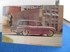1962 Studebaker Lark Wagon    mint orig factory postcard  ***