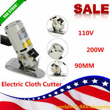 Electric Cloth Cutter 90mm Fabric Leather Cutting Machine Round Scissors Rotary