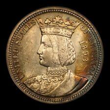 1893 25C Isabella Quarter. PCGS AU58. Nice album toning.