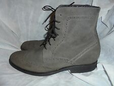 HUSH PUPPIES MEN'S GREY LEATHER LACE UP ANKLE BOOT SIZE UK SIZE 12 EU 46 VGC